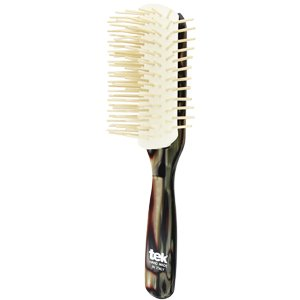 Big disassembled brush with long wooden pins nacre
