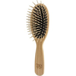 Big oval brush with long wooden pins